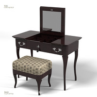 galimberti nino gina bianchina toilet table bench